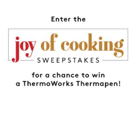 Simon & Schuster Joy of Cooking Sweepstakes