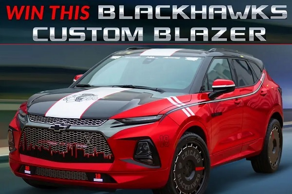 Chevy Blackhawks Themed Blazer Giveaway - Win Car