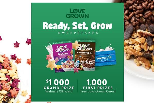 Love Grown Walmart Sweepstakes - Win Gift Card