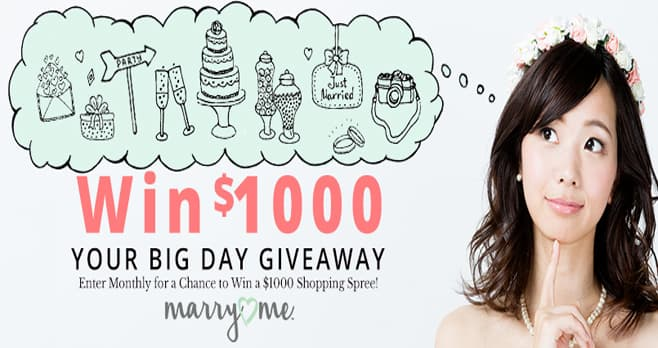 Your Big Day Oriental Trading $1000 Giveaway