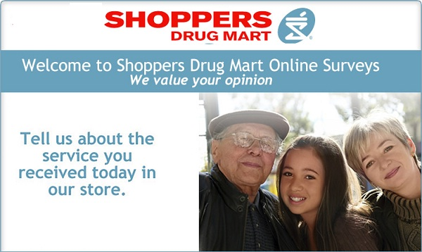 Tell Shoppers Drug Mart Feedback Survey - Win Gift Card