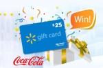 Coca Cola $25 Walmart Gift Card Instant Win Game