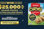 Quaker Chewy Golden Wrapper Instant Win Game