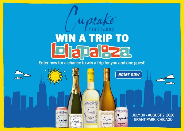 Cupcakevineyards.com Lollapalooza National Sweepstakes