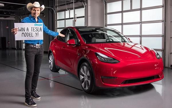 Omaze.com Tesla Model Y Sweepstakes