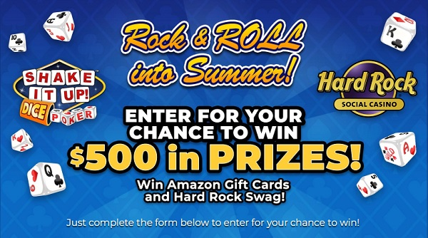 Shakeitupdice.com - Rock and Roll into Summer Sweepstakes