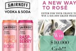 Smirnoff Vodka Soda Rose Contest
