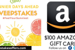 Sunnier Days Ahead Sweepstakes