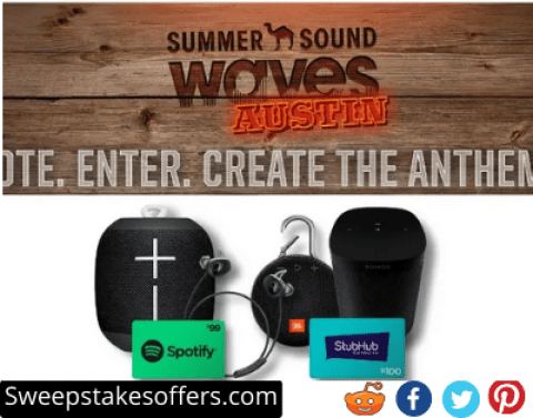 Camel Summer Sound Waves Instant Win and Sweepstakes