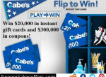 Gabes Stores Flip to Win Instant Win Game