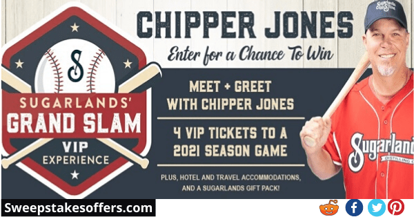 Sugarlands Grand Slam Experience Sweepstakes