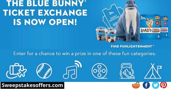 Blue Bunny Ticket Exchange Instant Win Game