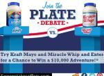 Mayo vs Miracle Whip Plate Debate Sweepstakes