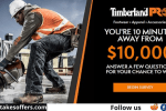 Timberland $10000 Cash Giveaway