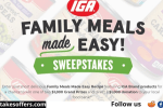 IGA Family Meals Recipe Sweepstakes