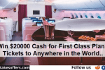 Omaze Fly First Class Sweepstakes