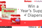 Huggies Diapers For A Year Sweepstakes
