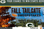 Green Bay Packers Fall Tailgate Sweepstakes