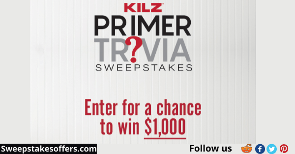 Kilz Primer Trivia Sweepstakes