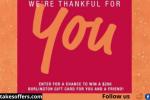 Burlington Thankful For You Sweepstakes
