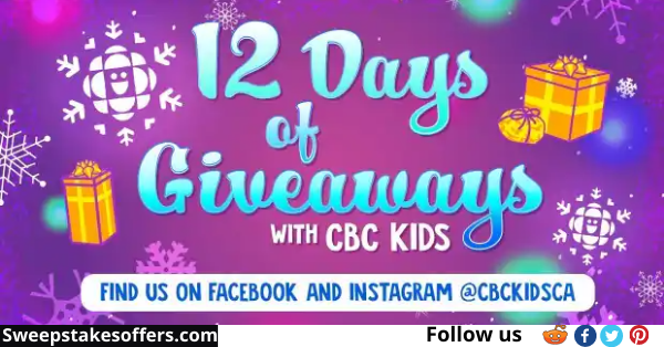 CBC Kids 12 Days of Giveaways