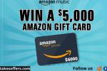 Amazon Music Gift Card Sweepstakes