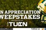Green Bay Packers Fan Appreciation Sweepstakes