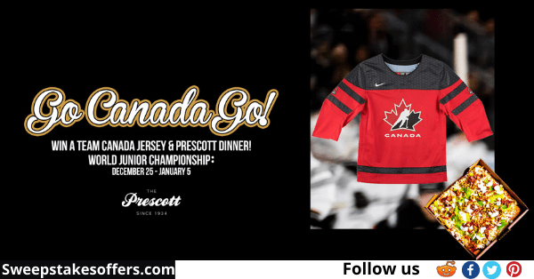 Team Canada Jersey And Prescott Dinner Contest