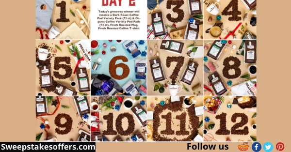 Fresh Roasted Coffee 12 Days Of Holiday Giveaway