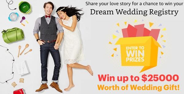 Amazon Dream Wedding Registry Contest