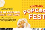 Cinemark Win Popcorn Instant Win Game