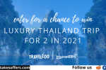 Travelzoo and Tripmasters Thailand Sweepstakes
