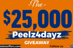 Peelz 4 Dayz Sweepstakes and Instant Win Game