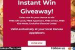 Applebee's Instant Win Giveaway