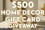 Improving Homes $500 Home Decor Gift Card Giveaway