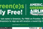 Frontier Airlines Green(e)s Fly Free Sweepstakes