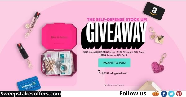 BlingSting Safety Stock Up Giveaway
