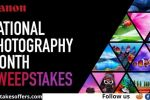 Canon National Photography Month Sweepstakes