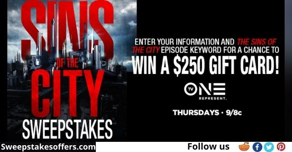 TV One Sins of The City Sweepstakes