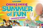 Elvis Duran Chuck E Cheese Summer of Fun Sweepstakes