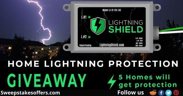 Lightning Shield Home Lightning Protection Giveaway