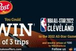 Post Cereal NBA All Star Pin Code Contest