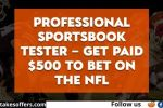 Bonus Finder Sportsbook Tester Giveaway