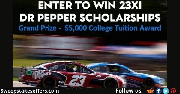 Dr Pepper 23XI Racing Tuition Giveaway
