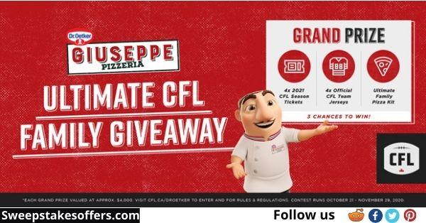 Dr Oetker Giuseppe Pizzeria & CFL Giveaway