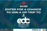 Bacardi Orlando Festival VIP Flyaway Sweepstakes