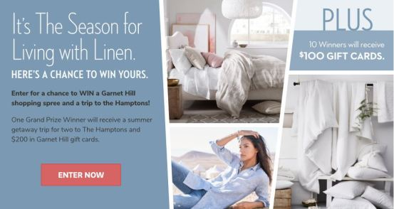 Living With Linen Sweepstakes