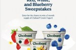 chobani red white and blueberry giveaway or sweepstakes