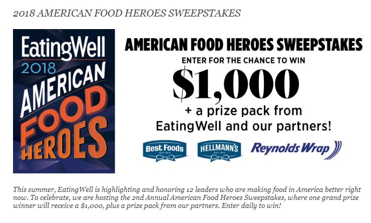 Eating Well - American Food Heroes Sweepstakes