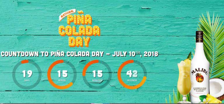 Malibu Pina Colada Day Sweepstakes